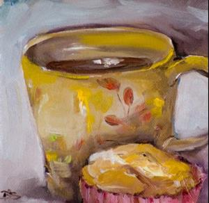 Detail Image for art Morning Muffin with Coffee-SOLD