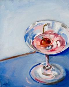 Detail Image for art Pink Martini with Cherry-sold