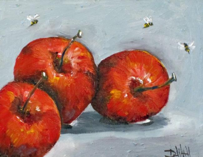 Art: Apples with Bees by Artist Delilah Smith