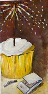 Detail Image for art New Years Cupcake