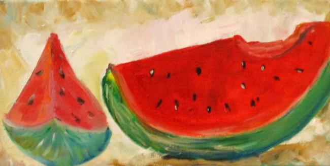 Art: Watermelon-sold by Artist Delilah Smith