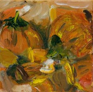 Detail Image for art Candy Corn and Pumpkins