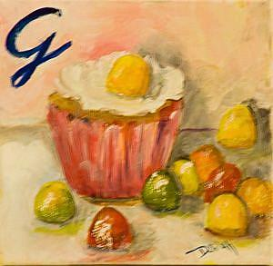 Art: G is for Gumdrops-sold by Artist Delilah Smith