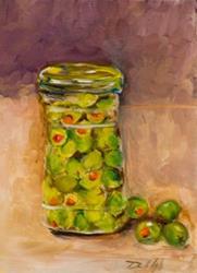 Art: Jar of Olives by Artist Delilah Smith