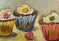 Art: Kiss Me Cupcake by Artist Delilah Smith