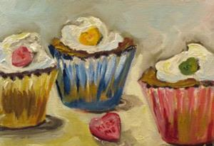 Detail Image for art Kiss Me Cupcake
