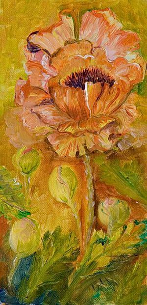 Art: California Poppy by Artist Delilah Smith