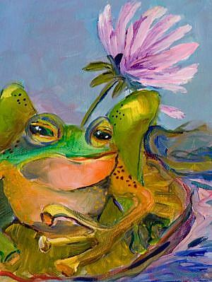 Art: Leap Frog by Artist Delilah Smith