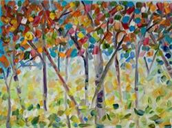 Art: Confetti Trees II by Artist Delilah Smith