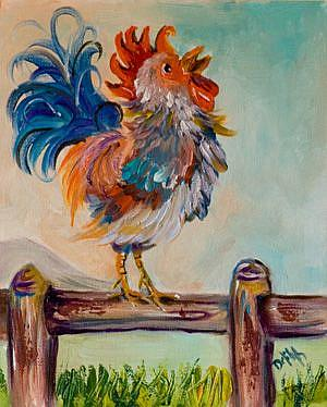 Art: Rooster 2 by Artist Delilah Smith