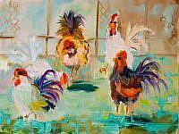Art: Chicken Pen by Artist Delilah Smith