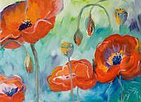 Art: Wow poppies No 3 by Artist Delilah Smith