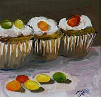 Art: Jelly Bean Cupcakes by Artist Delilah Smith