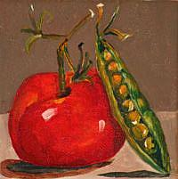 Art: Tomatoe and Pea by Artist Delilah Smith