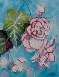 Art: Begonias by Artist Delilah Smith