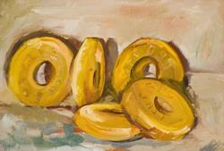Art: Five Gold Rings, The 12 Days of Christmas by Artist Delilah Smith