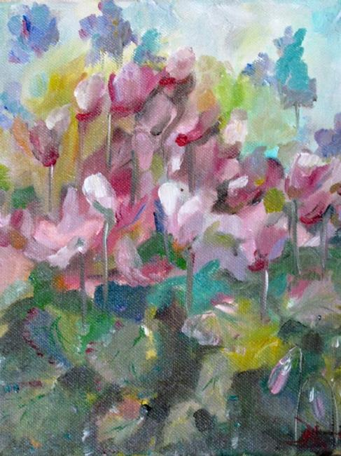 Art: Cyclamen #3 by Artist Delilah Smith