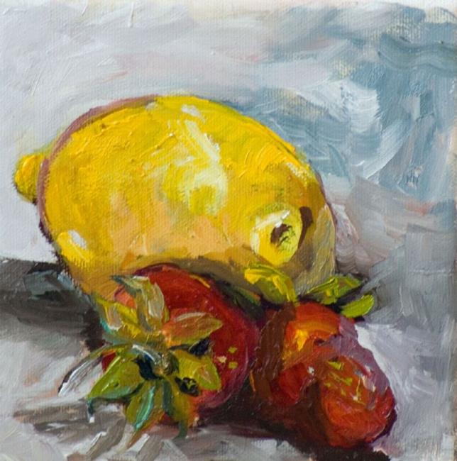 Art: Lemon and Strawberries-sold by Artist Delilah Smith