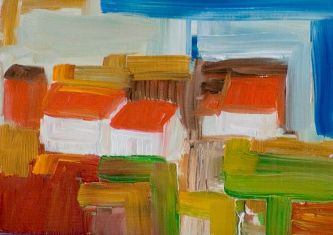 Art: Red Roof by Artist Delilah Smith