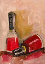 Art: Red Nail Polish by Artist Delilah Smith