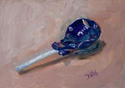Art: Grape Tootsie Pop-sold by Artist Delilah Smith