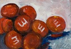 Art: Red M&M's-sold by Artist Delilah Smith