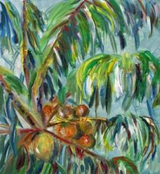 Art: CocoNut Trees by Artist Delilah Smith