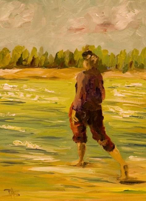 Art: A Dance in the Waves by Artist Delilah Smith