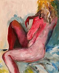 Art: Red Nude by Artist Delilah Smith