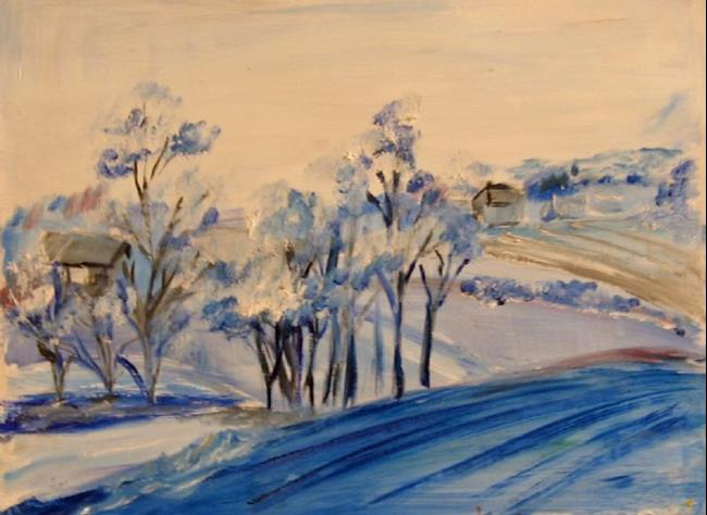 Art: Value Study in Blue by Artist Delilah Smith