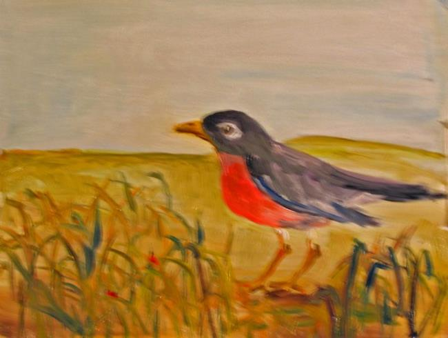 Art: First Robin of Spring by Artist Delilah Smith