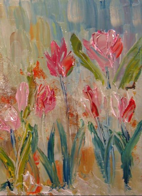 Art: Burst of Tulips-sold by Artist Delilah Smith