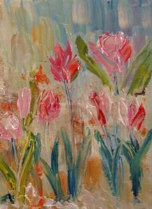 Detail Image for art Burst of Tulips-sold