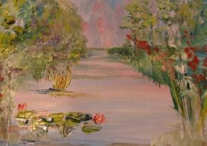 Detail Image for art Lilies at the Pond