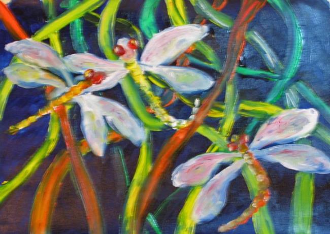 Art: Dragonflys-sold by Artist Delilah Smith