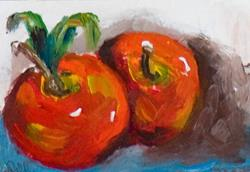Art: Apple Aceo by Artist Delilah Smith