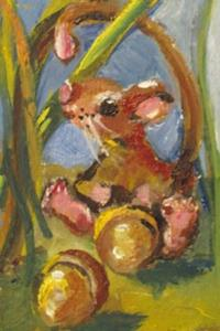 Detail Image for art Mouse and Acorn Aceo-sold