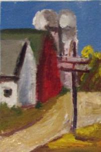 Detail Image for art Farm Landscape Aceo