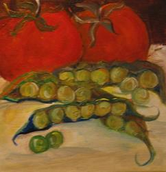 Art: Tomatoes and Peas by Artist Delilah Smith