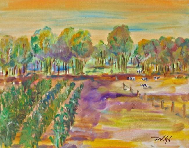 Art: Corn Fields-sold by Artist Delilah Smith