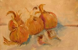 Art: Garlic and Onions by Artist Delilah Smith