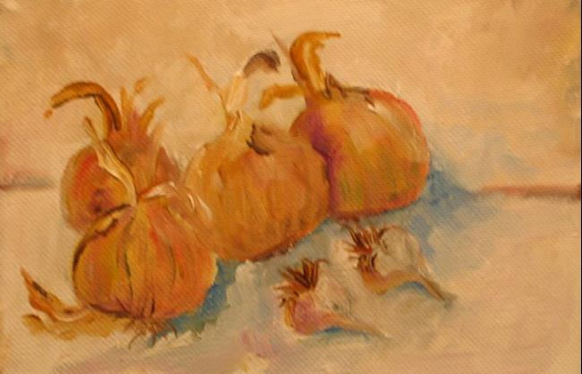 Art: Garlic and Onions-sold by Artist Delilah Smith