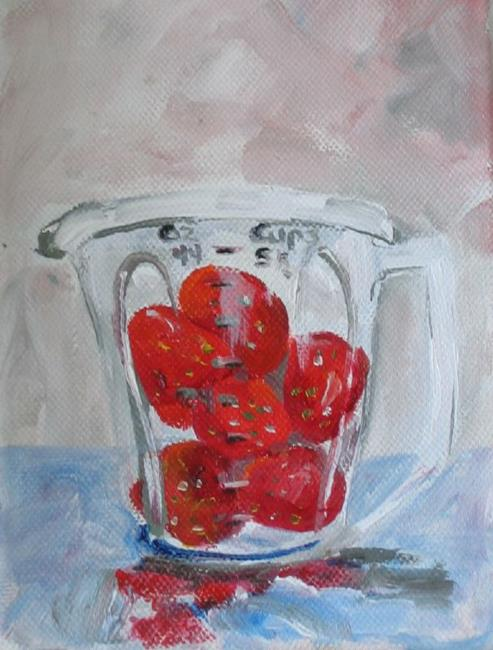 Art: Two Cups of Berries by Artist Delilah Smith