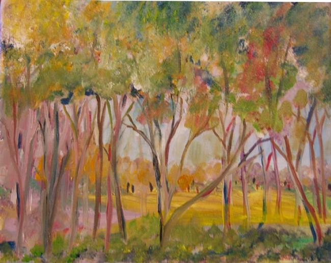 Art: Spring Trees by Artist Delilah Smith