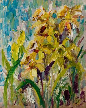 Art: Last of the Daffodils-sold by Artist Delilah Smith
