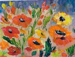 Art: Wild Poppies by Artist Delilah Smith