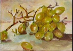 Art: Green Grapes No. 2 by Artist Delilah Smith