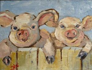 Detail Image for art Smiling Pigs