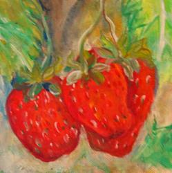 Art: Strawberries by Artist Delilah Smith