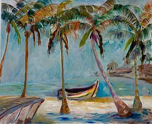 Art: Tropical Beach 3 by Artist Delilah Smith